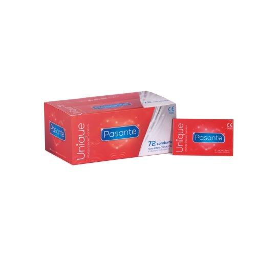72 x Pasante Unique Non latex Condoms, ( 24 x Pack of 3 condoms )