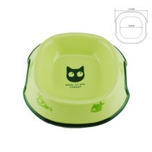 5-Inch Lovely Environmental protection Ceramic Cat Food Bowl ,GREEN (17*13.5cm)