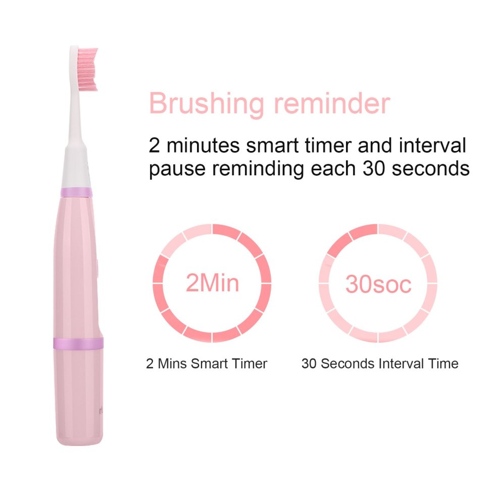 Electric Toothbrush,Child Electric Toothbrush Rechargeable,1 5 Hours Charge  Minimum 40 Days Use, Dentists Recommend Toothbrush with 3 Deep Clean