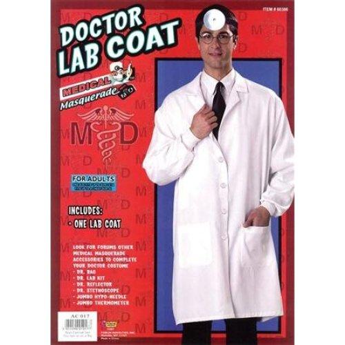 ce3021e56fc5f Adult's Doctor Coat Costume - coat fancy dress doctor costume adult white  doctors lab outfit on OnBuy