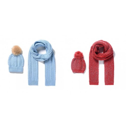 Intrigue Womens/Ladies Knitted Scarf And Bobble Hat Set