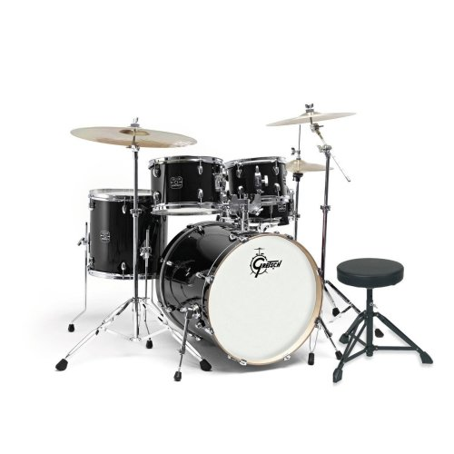 "Gretsch Energy 20"" Drum Kit w/ Hardware & Paiste 101 Set, Black"