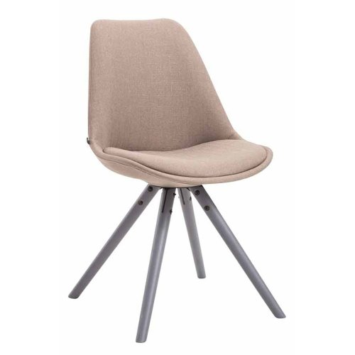 Visitor chair Toulouse cloth round gray