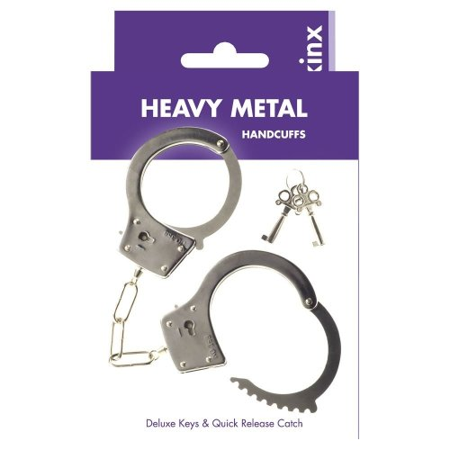 Kinx Heavy Metal Handcuffs for Bondage Play in Silver
