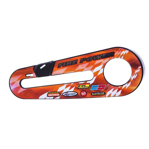 "FIRE POWER KIDS Bike Bicycle CHAIN GUARD for 12"" WHEELS in Orange & White"