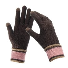 Women Kintted Frabic Touch Screen Gloves