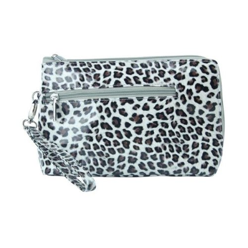 Picnic Gift 7324-CT French 75-Daily Essentials Cosmetics Bags with Removable Wristlet, Cheetah
