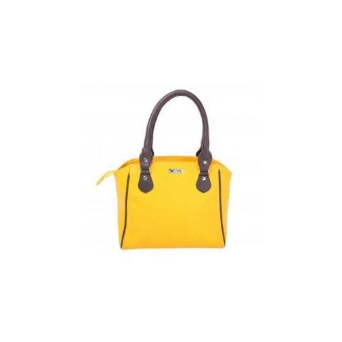 Art Fashions of Europe AB-8134 BLU 13 x 5 x 10 in. Fancy Zipper Handbags, Yellow