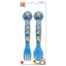 Boyz Toys St425 2pc Cutlery Set - Minions, Blue - Minions -  boyz toys st425 2pc cutlery set minions blue
