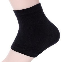ComfortGear Heel Protector Soft Socks Black One pair Ankle Support