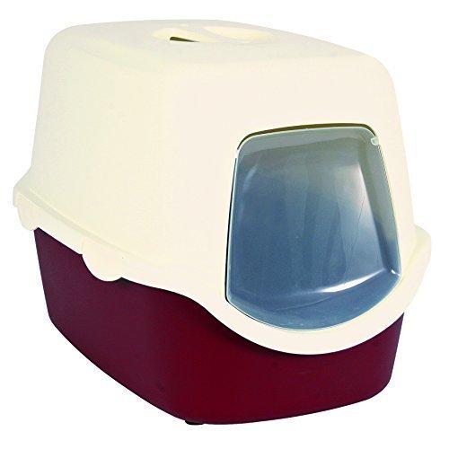 Cat Litter Tray Vico, 40 × 40 × 56 Cm, Bordeaux/cream - Vico Trixiecm -  litter tray 40 vico trixie cat cm 56 bordeauxcream dome