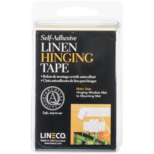 "Lineco Self-Adhesive Linen Hinging Tape-White 1.25""X12'"