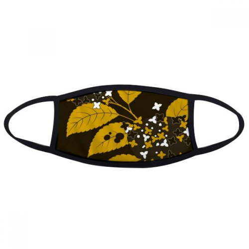 Painting Japanese Culture Black Mouth Face Anti-dust Mask Anti Cold Warm Washable Cotton Gift