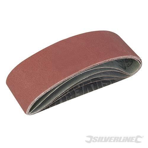 Silverline Sanding Belts 75 x 533mm 5pce 40, 60, 2 x 80, 120g -  x sanding belts 75 silverline 533mm 40 60 5pce 2 80 grit 120g assorted 310680