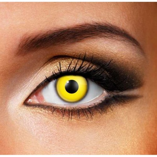 Yellow Contact lenses (Pair) - Halloween Contact Lenses
