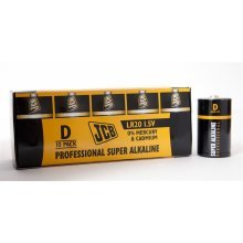 10 x JCB D Professional Super Alkaline Industrial Batteries
