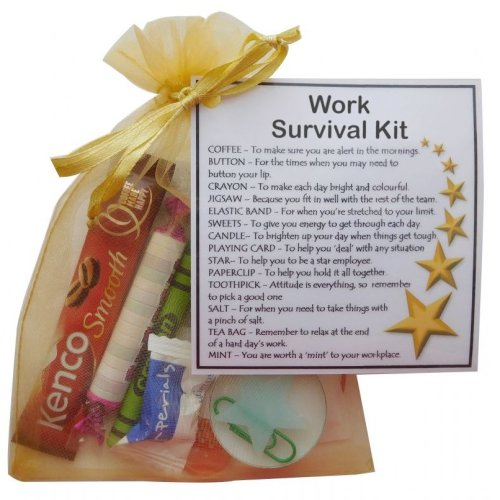 Work Survival Kit Gift | Secret Santa or New Job Novelty Gift Idea