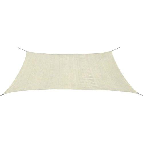 vidaXL Sunshade Sail HDPE Rectangular 2x4 m Cream