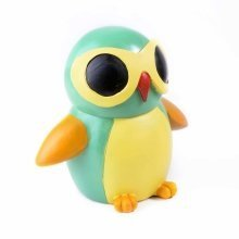 Colourful Green Bird in Sunglasses Resin Money Box Savings Bank