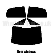 Pre cut window tint - Audi A6 4-door Saloon - 2005 to 2011 - Rear windows