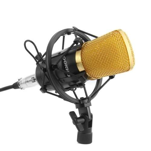 Microphone for PC, SOONHUA 3.5mm Professional PC Microphone Recording with Shock Mount for Youtube