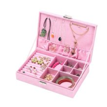 Jewelry Box Necklace Organizer Rings Display Earrings Storage Case-B03