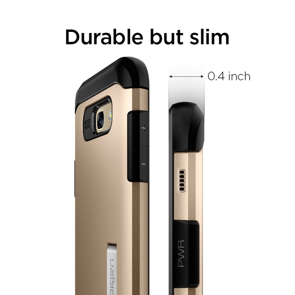 get cheap f0134 33973 Samsung Galaxy A5 2017 Case, Spigen [Slim Armor] AIR CUSHION [Champagne  Gold] Air Cushioned Corners / Dual Layer Protective Case for Samsung A5...
