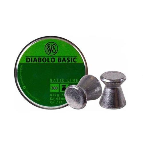Umarex USA 2317398 RWS Diabolo Pellets 0.177 Caliber, 7 Grains - Flat Nose - Per Box 300