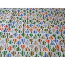 "Small Hot Air Balloons 100% Cotton Fabric by the metre 58"" / 147cm Wide"