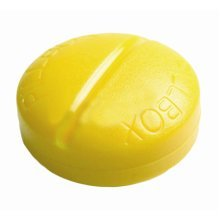 Creative Pill Shaped Portable Pill Case Cute 4 Grids Pillbox-Yellow