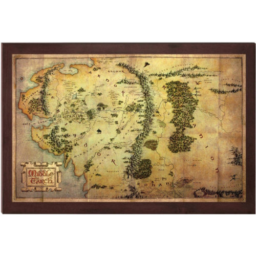 Official The Hobbit 16 x 12 Inch Map of Middle Earth Collectable Print