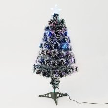 Homcom 3ft White Artificial Christmas Colourful Scattered Led Light with Snow Side (3ft-90cm)