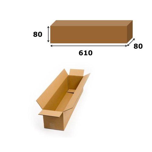 5x Postal Cardboard Box Long Mailing Shipping Carton 610x80x80mm Brown