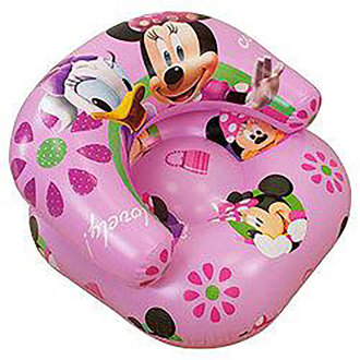 Girls Kids Disney Minnie Mouse Inflatable Chair
