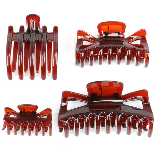 TRIXES Set of 4 Assorted Hair Claws-Small Medium Large and Flat Clamp Grips- Hair Styling Accessories for all Lengths