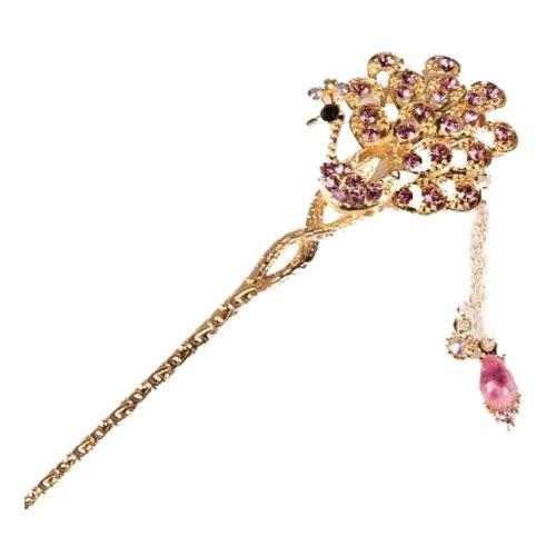 Classical Moods Hairpin Hair Ornaments Hair Clip Tassels Headwear Crown Purple