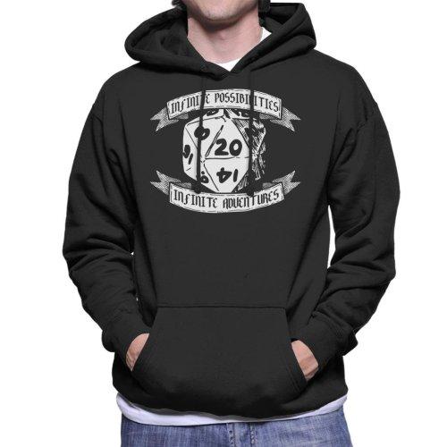 Infinite Possibilities Dungeons And Dragons Men's Hooded Sweatshirt