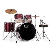 Mapex Tornado 22-Inch LA Fusion Drum Kit, Dark Red