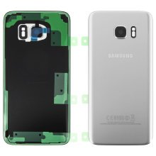 Housing part back cover, for Samsung Galaxy S7 Edge – Silver