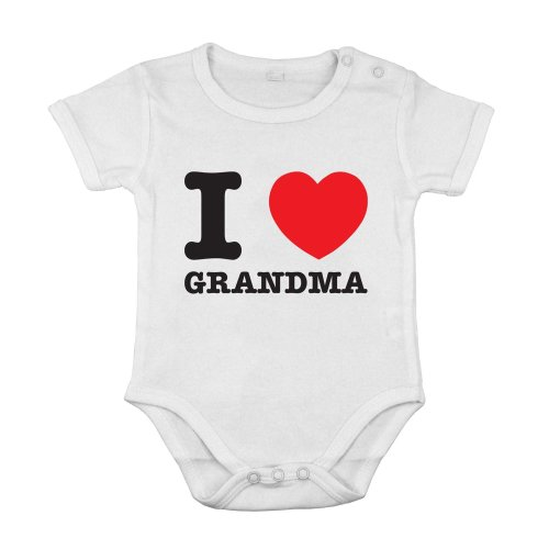 I love Grandma best mom Funny Cute Baby Newborn short Cotton cothing