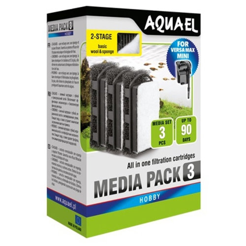 Aquael Versamax Mini Filter Cartridge Foam x3