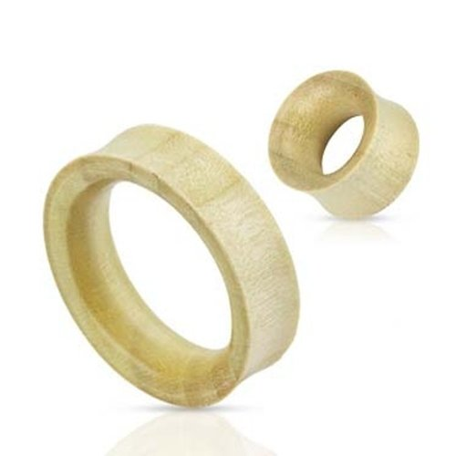 Urban Male Pair Of Organic White Crocodile Wood Double Flared Flesh Tunnels 4mm