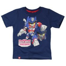 Angry Birds Transformers T Shirt - Navy