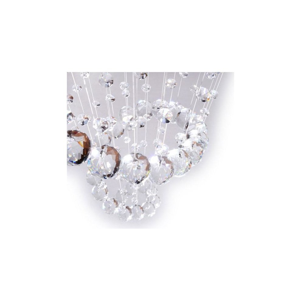 Homcom modern crystal chandelier ceiling light pendant lamp chrome homcom modern crystal chandelier ceiling light pendant lamp chrome finish glass droplets new 5 mozeypictures Gallery