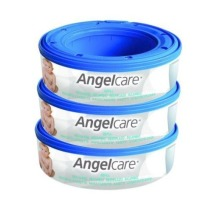 3pc Angelcare Nappy Refill Cassettes | Nappy Bin System Refill Cassettes