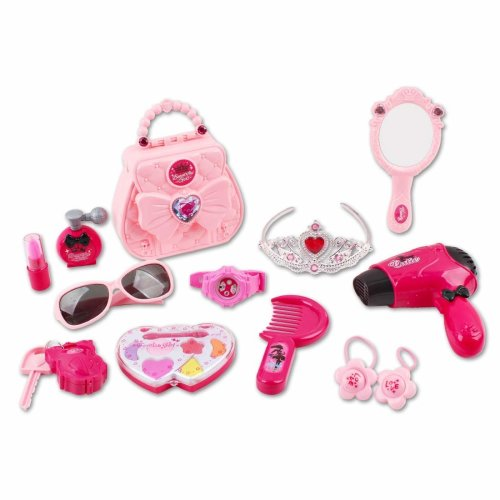 deAO 'My First Purse' Pretend Play Vanity Beauty Set and Make up Bag for Princess Dress up & Role Play for Kids