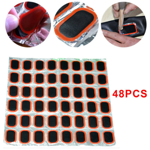 Bicycle Bike Tire Tyre Tube 48PCS Rubber Puncture Patch Patches Repair Kit UK