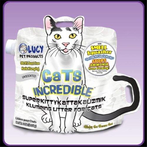 Lucy Pet Products 850657006289 Cats Incredible Superkittykattakalizmik Klumping Litter - Unscented