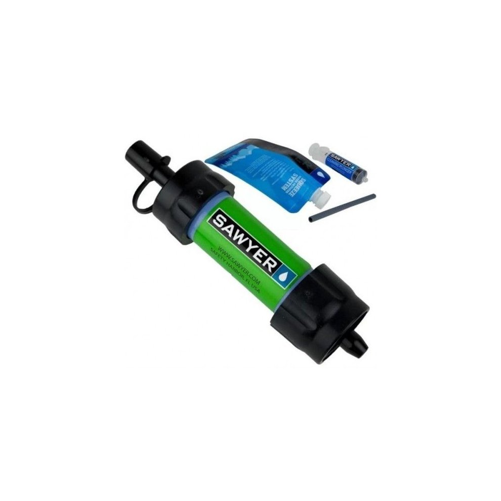SAWYER SP101 MINI WATER FILTRATION SYSTEM GREEN