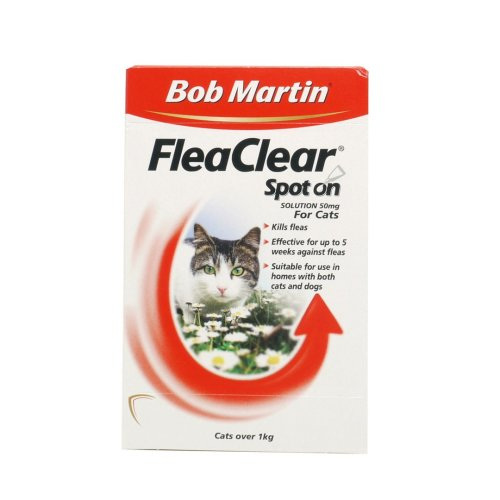 Bob Martin Cat Flea Clear Spot On 2 Tube (Pack of 10)